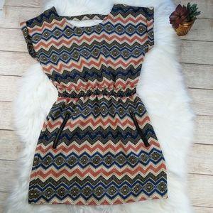 Fun & Flirt Tribal Boho Dress Size M